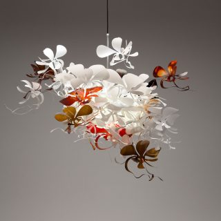Orchid Pendant Light uses a single ES globe.
