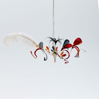feather baroque pendant light small